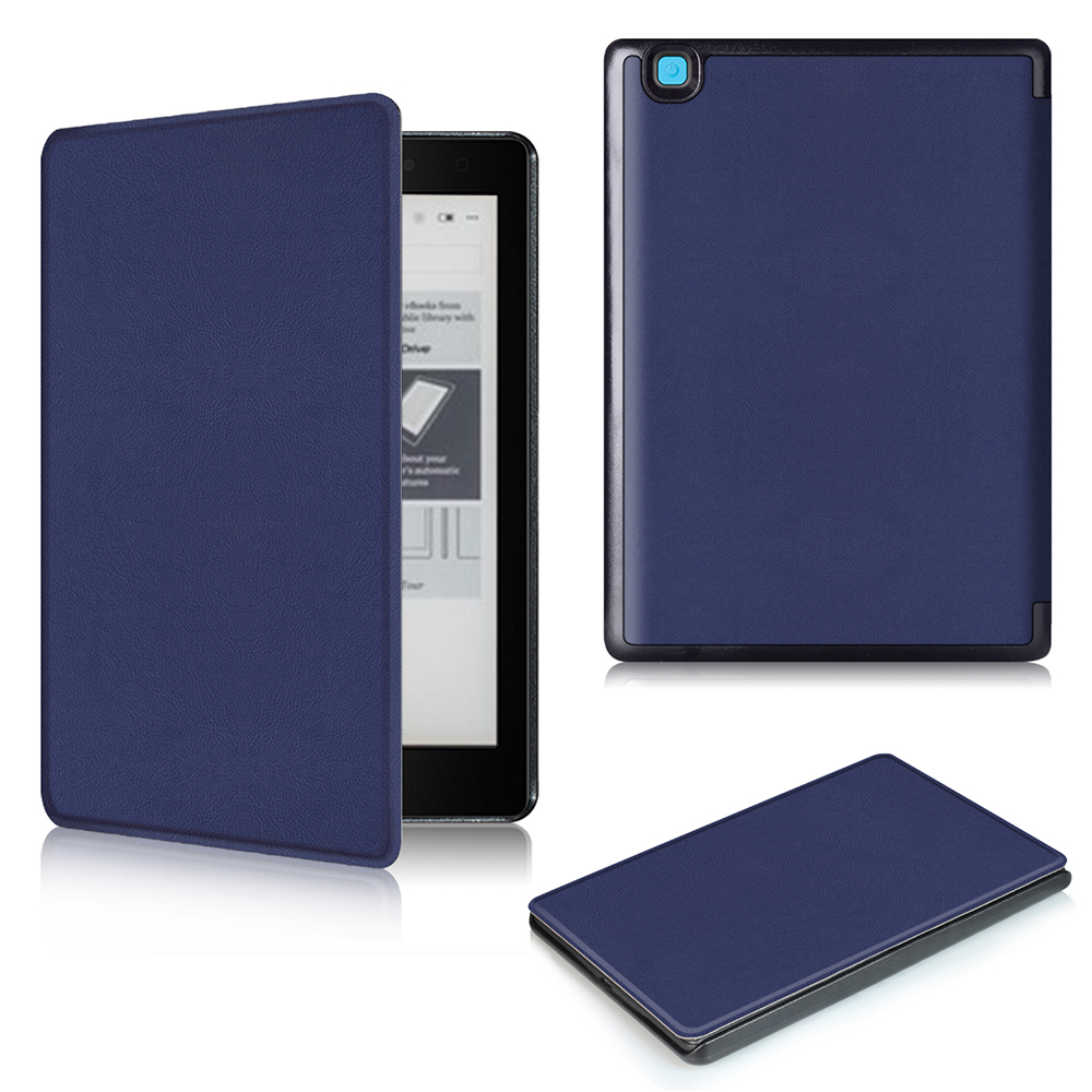 Folio cover case For Kobo Aura One 7.8inch eReader smart ultra thin PU leather cover case magnetic protective cover skin case folio pu leather cover case classic stand protective cover case for pocketbook 840 inkpad 2 ereader