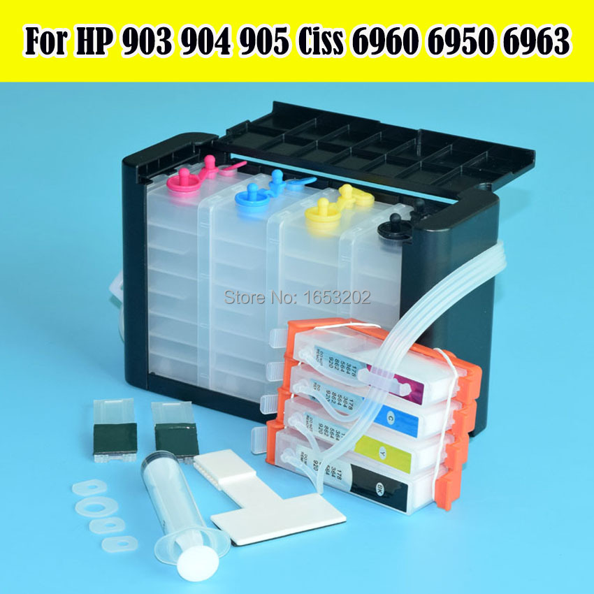 NEWEST 903 Continuous Ink Supply System For HP 904 905 902 HP903 Ciss Without Chip FOR HP OfficeJet 6950 6960 6968 6970-6979