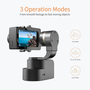 Image 3 - 李ハンドヘルド4 18kアクションカメラ用3軸パン/チルト/ロール手動調整320度コンパクト & ライト