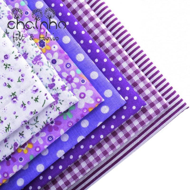 Απλό λεπτές βαμβακερές υφασμάτινες πιτζάμες για ράψιμο υφασμάτινων υφασμάτινων υφασμάτινων τριγωνικών τεμαχίων Ιστού για μοτίβο ντυσίματος νυχιών 50 * 50cm 7pcs