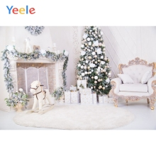 Yeele Photography Backdrops White Interior Chair Christmas Children Portrait Photographic Backgrounds Horse For the Photo Studio