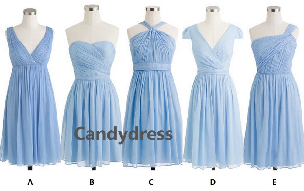 Light Blue, Baby Blue, Powder Blue Series Bridesmaid Dress, Wedding Party  Dress In Bridesmaid Dresses From Weddings U0026 Events On Aliexpress.com |  Alibaba ...