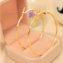 2018 Statement Fashion Jewelry Accessories Large Circle Round Loop Earrings Simple Gold Silver Plated Big Hoop Earring For Women(China)