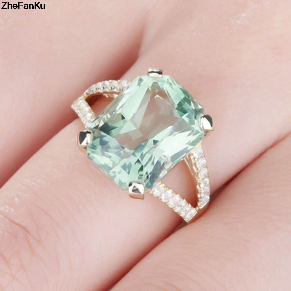 Buy rings green zircon and get free shipping on AliExpress.com