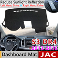 for  JAC S3 Heyue S30 DR4 2013 2014 2015 2016 Anti Slip Mat Dashboard Cover Pad Sunshade Dashmat Protect Carpet Car Accessories|Car Stickers|   -