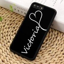 MaiYaCa индивидуальный пользовательский первоначальное имя чехол для телефона чехол для iPhone 5 6s 7 8 plus 11 pro X XR XS Max samsung Galaxy S7 edge S9