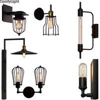 Ferro do vintage Americano Edison Luz De Parede Lâmpada de Parede Moderna Arandela Corredor Quarto Retro Lâmpada de Parede Interior lâmpada de Leitura de cabeceira levou