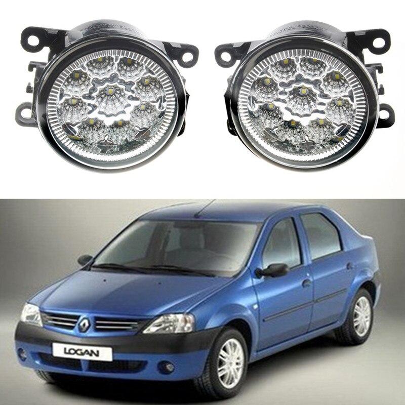 Pour Renault Logan Saloon LS 2004-2015 Car Styling Brouillard Assemblage De La Lampe Led Brouillard Lumières 450LM 9 w 2 pcs