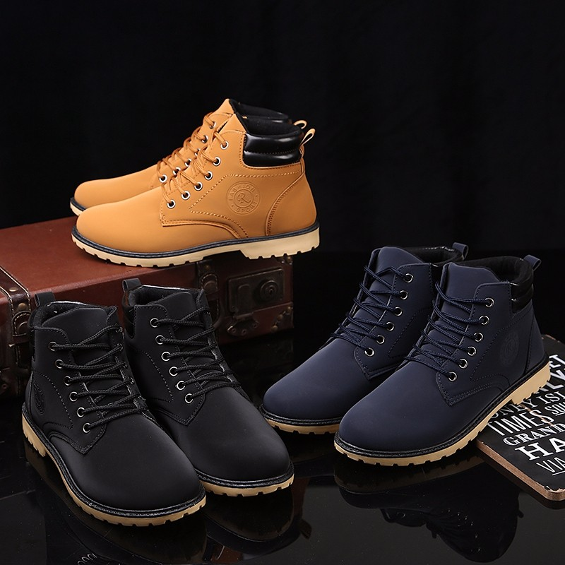 YWEEN Men Leather Boots Autumn Winter High Style Waterproof Fashion Outdoor Work Shoes Casual Martin Boot For Man Hot Sale 23