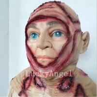 Yeni Cadılar Bayramı Maskesi Yetişkin Resident Evil Tyrant Korku Maskesi Korku Zombi Ünlü Film Cadılar Bayramı Kostüm Kask Giyinmek Maske Prop