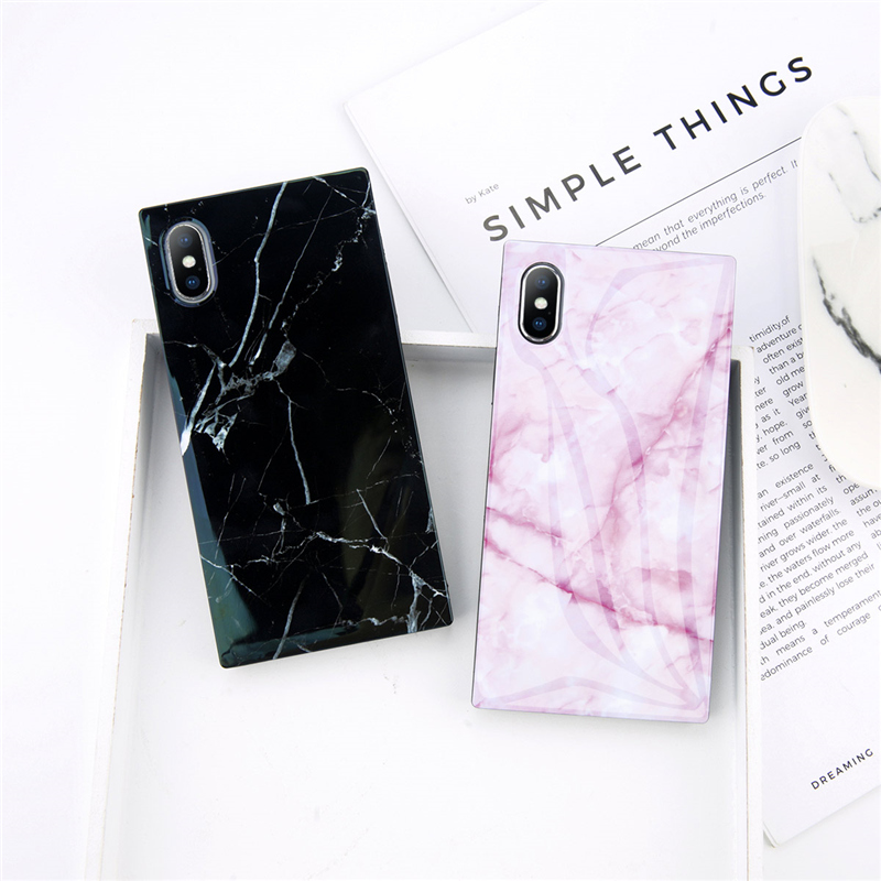 Marble Texture For Iphone 6 6s 7 8 Plus X Phone Case Granite Stone Soft Imd