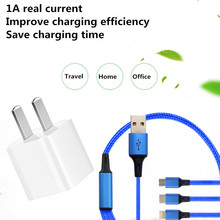 2 in 1 Magnetic Charger Cables Lighting For Huawei P30 Pro Travel USB Adapter 1A High Speed Wall Redmi 7 OPPO A9