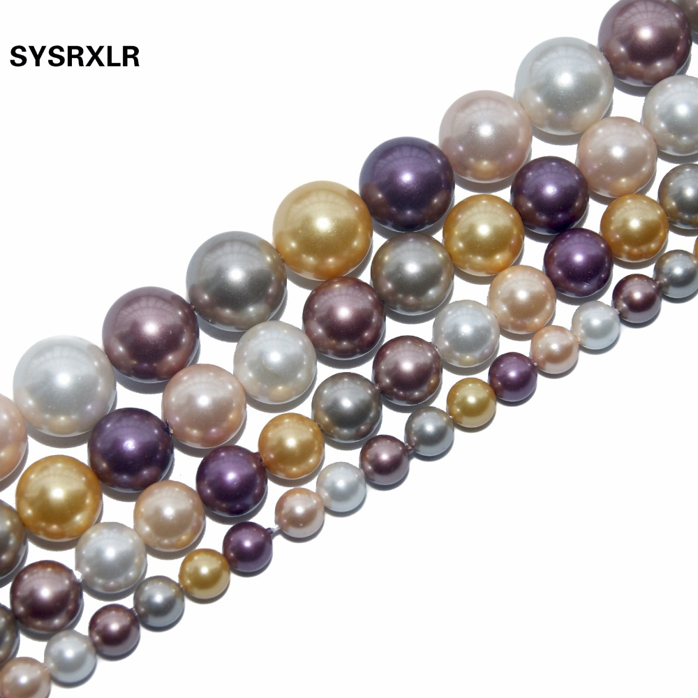 Free Transport Pearl 4 6 8 10 12 MM Spacer Beads Necklace Natural For The Do It Yourself Bracelat Jewelry Making Strand ...
