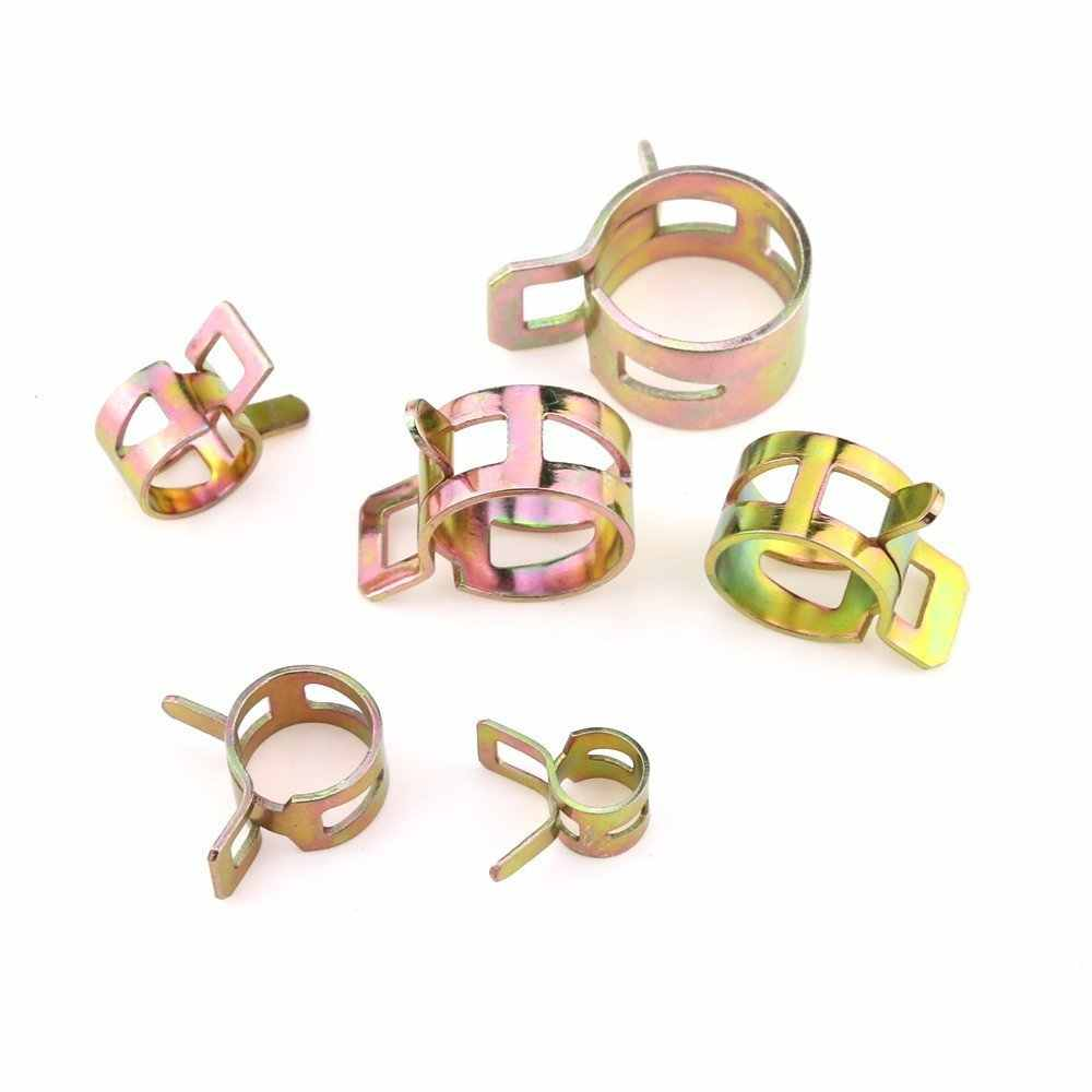 72 Pieces Spring Band Type Clamps Spring Band Fuel Line Clamps Fuel Silicone Vacuum Hose Spring Band Type Action Pipe Clamp Low Pressure Air Clip Clamp 15 Pieces Per Size of 7//10//11//14//16//17mm