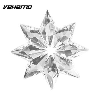 Christmas Clear Crystal Acrylic Snowflake Car Pendant Ornament Accessory