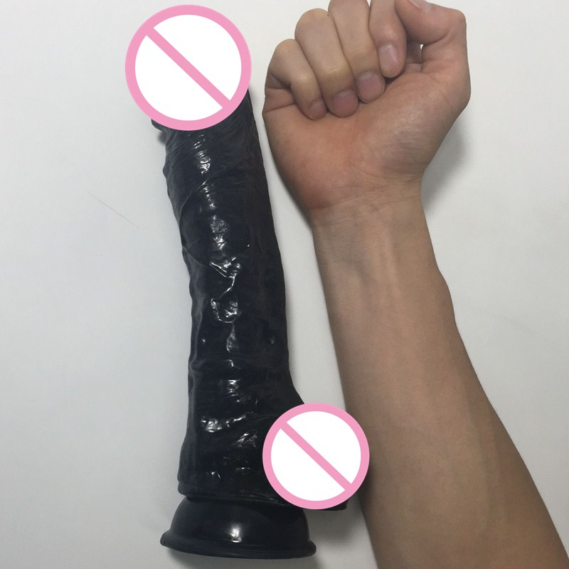 Big dick sex toy soft large dildo Suction cup Realistic huge dildos for women hot black brown cyberskin artificial rubber penis