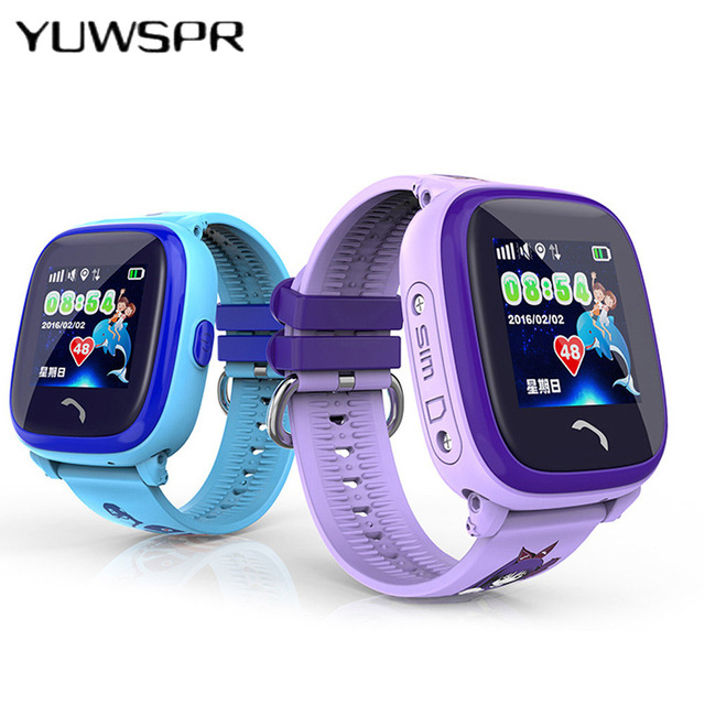 2018 New GPS Tracker Watch For Kids Swim touch screen Waterproof SOS Emergency C