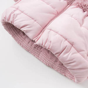 Image 5 - DBA7949 dave bella winter baby girls pink hooded coat infant padded jacket children high quality coat kids padded outerwear
