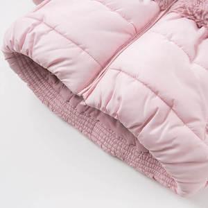 Image 5 - DBA7949 dave bella winter baby mädchen rosa mit kapuze mantel infant gepolsterte jacke kinder hohe qualität mantel kinder gepolstert oberbekleidung