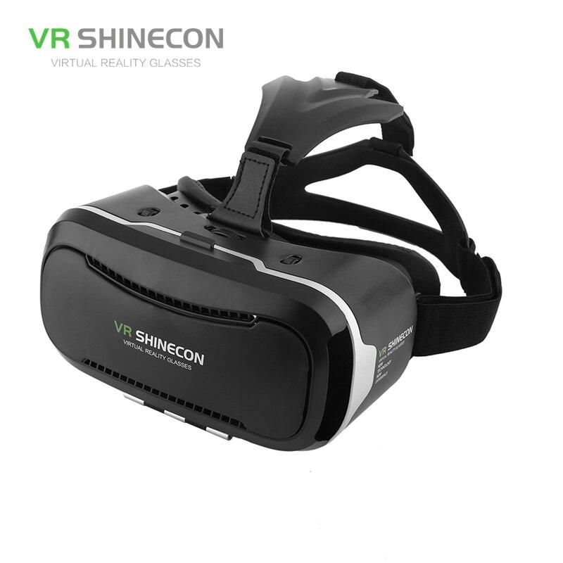VR Shinecon 2.0 3D VR Glasses Virtual Reality Headset 3D Cardboard Glasses VR Casque Virtual Box 3D Box For 3.5-6' Mobile Phone