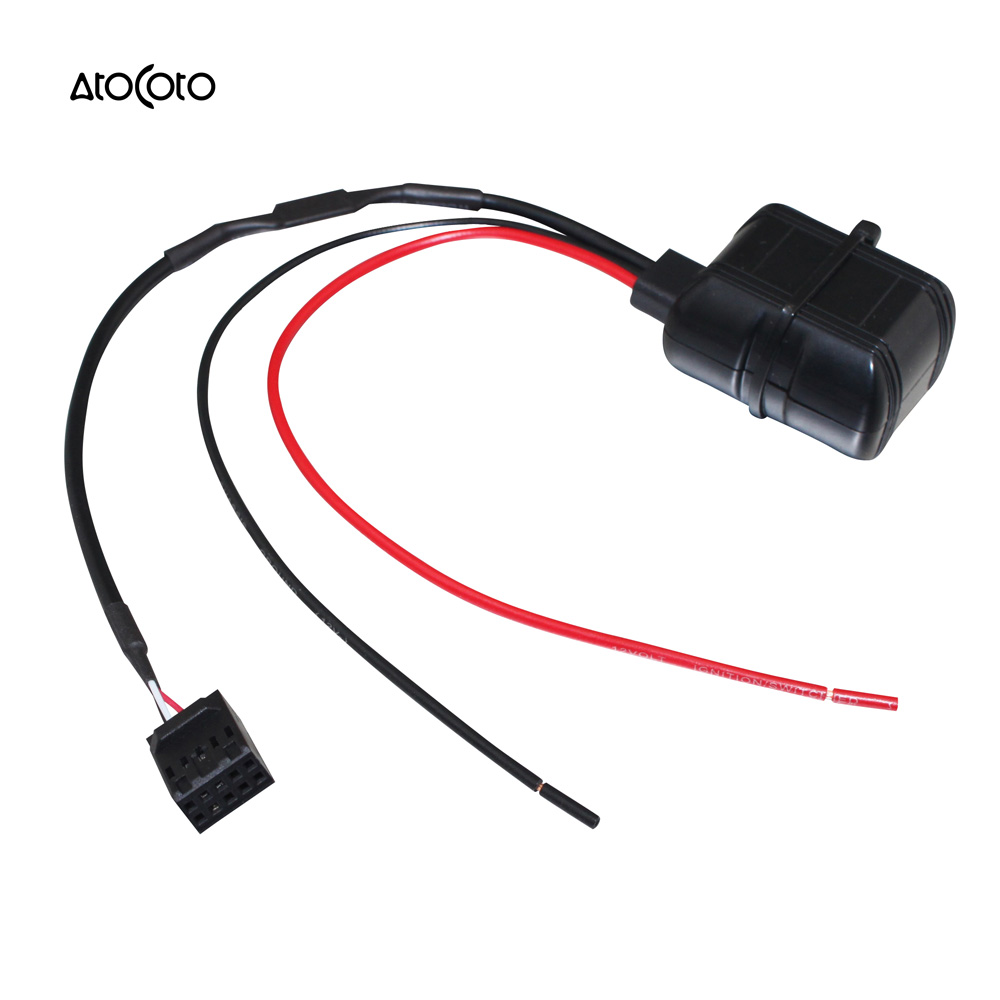 Car bluetooth module for bmw e46 3 series radio stereo aux cable adapter with filter wireless audio input
