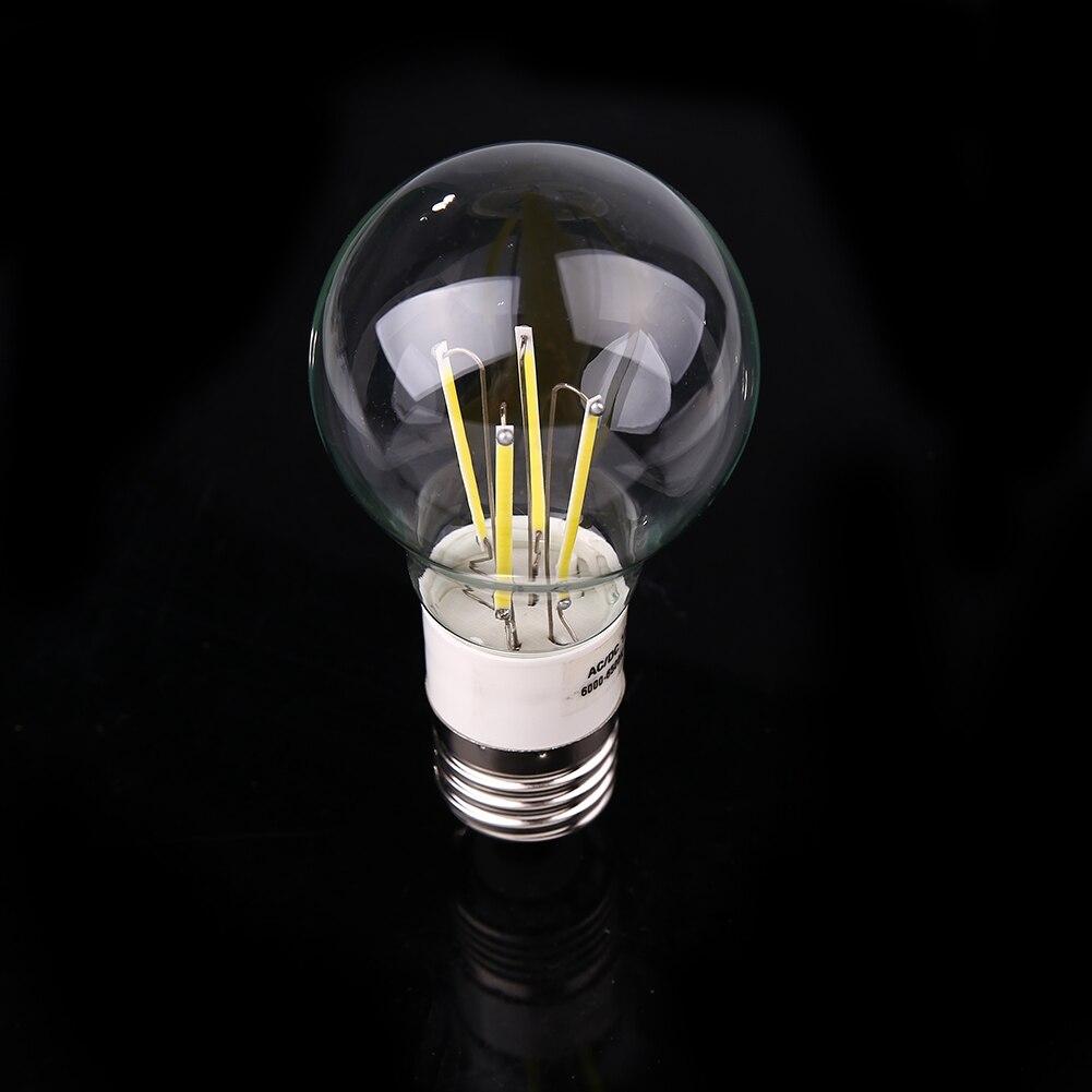 E27 AC/DC12V 4W Vintage Retro Filament Glass Clear Lamp Bulb Lightning
