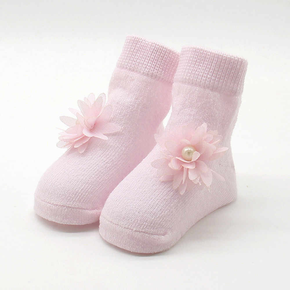 Winter warm Baby socks Kids Girls Comfortable Floral Cute Cotton Sock Slippers Warm Ankle Socks meia infantil calcetines 0-1T