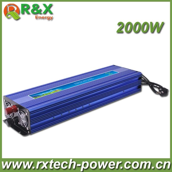 цена на Hot Sell, 2000W Solar Power Inverter, DC12V or DC24V or DC48V-AC220V Pure Sine Wave Inverter