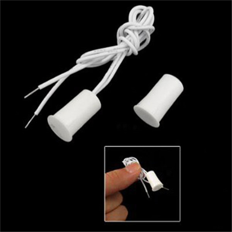 Wired Door Window Sensor Recessed Magnetic Contacts Security Reed Switch Alarm For Home Security Alarm White Hot Sale