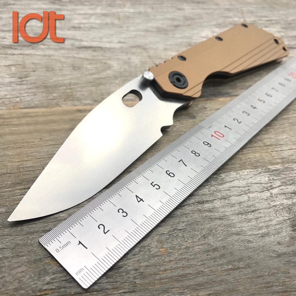 LDT SMF Survival Folding Knife Real D2 Blade Titanium TC4 Handle Knives Camping Pocket Hunting Outdoor Tactical Knife EDC Tools vellance a2 folding blade pocket knives m390 vg10 blade titanium handle ball bearing knife tactical camping survival knife tools
