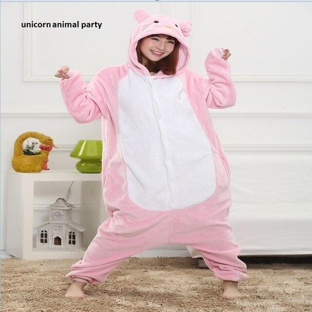 1a91c80512 Kigurums Rosa gato pijama Onesie ropa de dormir pijamas Cosplay primavera Animal  adulto sudaderas con capucha trajes disfraces halloween