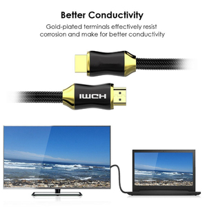 Image 5 - HDMI Cable 2.0 video cables gold plated hdmi 4K Cable 3D for HDTV PC PS3 splitter switcher 1m 1.5m 2m 3m 5m 8m 10m 15m 20m