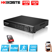 Home DVR Recorder AHD 1080P 16CH AHD DVR 16 Channel 1 SATA HDD Port 3G Wifi