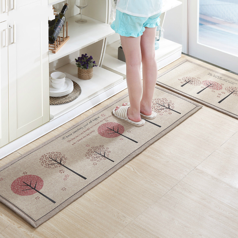 1Setu003d2Pcs Anti Slip Kitchen Mat Large Bedroom Carpet Absorbent Doormat  Floor Rugs(