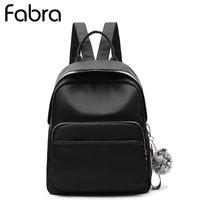 Fabra New Waterproof Nylon Women Backpack Bags Solid Black Only Casual Shoulder Bag Small Daypacks Korean