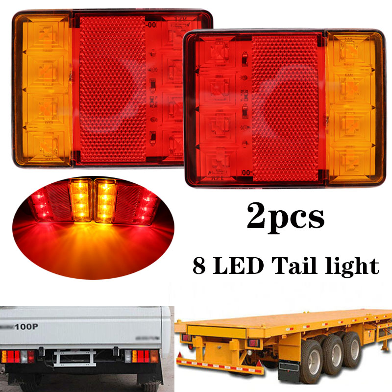 2x 12V Waterproof Car Truck Led Tail Lights Brake Stop Warning Lights Rear Lamp Tailight For Trailer Caravans UTE Campers ATV