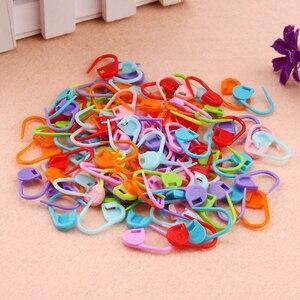 Chinchetas de seguridad de colores, puntada de remate, 100 uds., marcador de anillo de plástico para tejer, Gehaakte, Herramienta de bloqueo, decoración artesanal