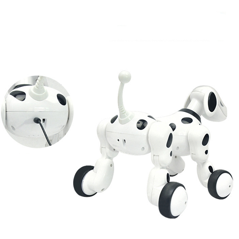 2018 New RC Intelligent Robot Gifts for Birthday Present Intelligent RC Robot Dog Toy Smart Electric Dog Kids Toys стоимость