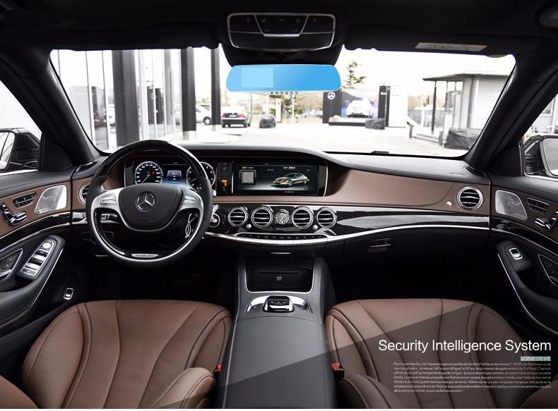 E-ACE Car Dvr Camera Led Lights Blue Rearview Mirror FHD 1080P Night Vision Video Recorder Dual Lens Auto Registrator Dash Cam 28