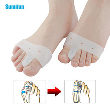 2Pcs Big Toe Support Splint Straightener Corrector Toe Separator Big Finger Pedi