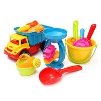 21pcs Set Beach Sand Play Toys Set Bucket Rakes Sand Wheel Watering Sand Play Bath Toys