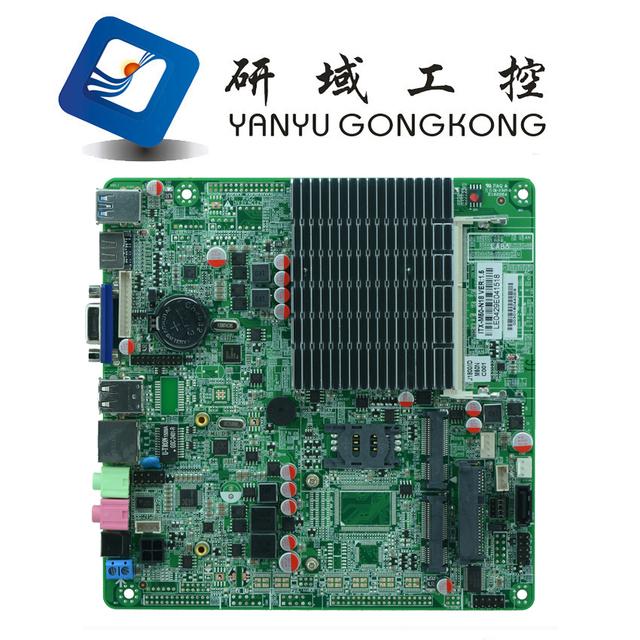 J1900 itx placa madre para PC y todo en uno copmuter ultra-delgada máquina integrada sin ventilador Mini de control industrial junta