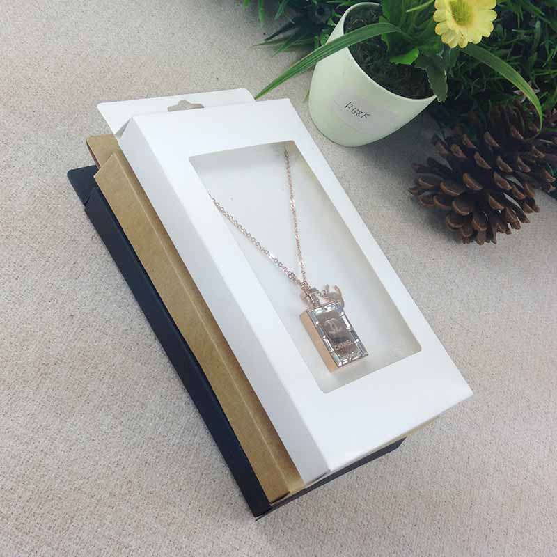 2016  New Necklace Card Box   1Lot =50box  50 pcs inner Card  18x10x2cm Necklace Box Gifg BOX  Pendent  Box / Earring Casependente  boxeearrings casenecklace box