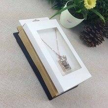 2016 nouveau collier carte boîte 1 Lot = 50 boîte + 50 pièces carte intérieure 18x10x2 cm collier boîte cadeau boîte pendentif boîte/boucle doreille