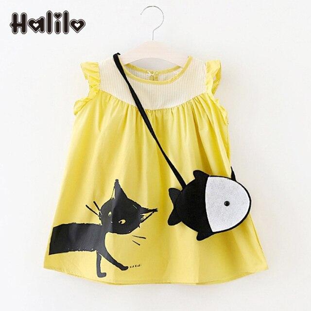 02ee5dd0824 US $7.38 35% OFF|Halilo Little Girls Blouses Summer Sleeveless Kids Blouses  Cartoon Animal Print Girls Shirts Toddler Girl Clothing Children Tops-in ...