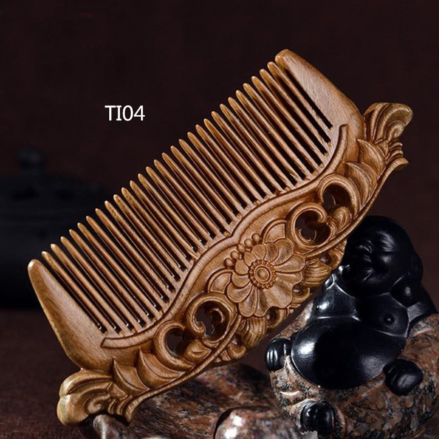 TI04 Green Tan Wood Comb Natural Green Tan Comb