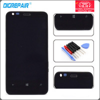 Black Front Glass For Nokia Lumia 620 LCD Display Monitor Touch Panel Screen With Digitizer Full