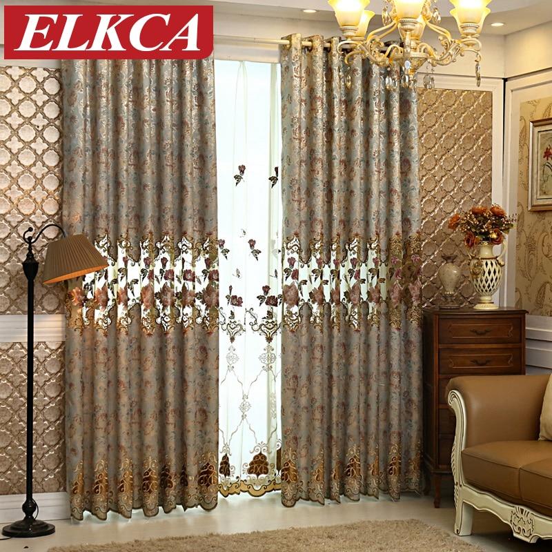 buy european blue jacquard butterfly luxury window. Black Bedroom Furniture Sets. Home Design Ideas