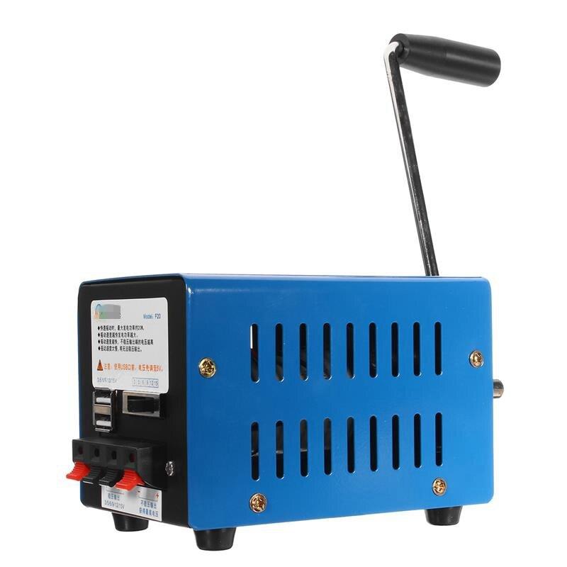 Hand Crank Dynamo Charger Portable Emergency Hand Power Hand Crank USB Charging Emergency Survival Hand crank generator
