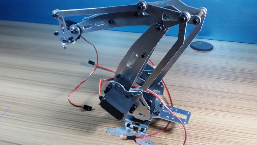 Industriële Robot 528R Mechanische Arm 100% Legering Manipulator - Radiografisch bestuurbaar speelgoed